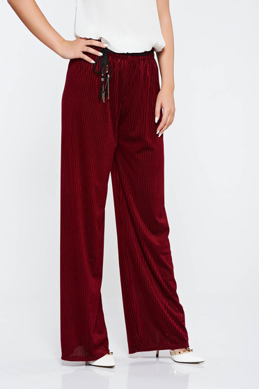 Pantaloni visinii casual cu croi larg cu elastic in talie