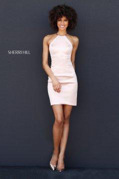 Rochie Sherri Hill 51421 blush