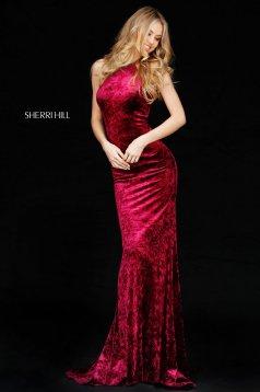 Rochie Sherri Hill 51424 plum