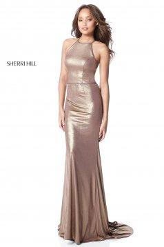 Rochie Sherri Hill 51428 coffee/gold