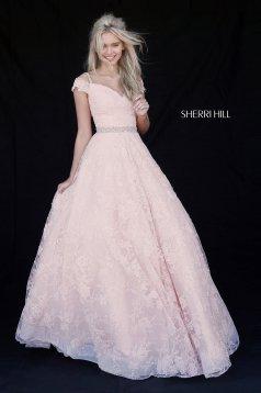 Rochie Sherri Hill 51451 blush