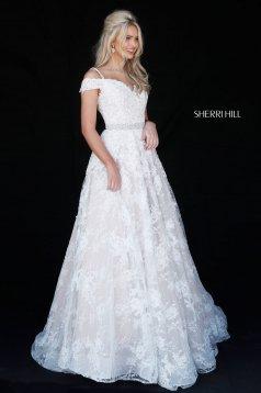 Rochie Sherri Hill 51451 ivory/nude
