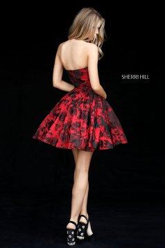 Rochie Sherri Hill 51502 red/black