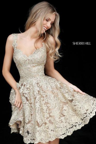 Rochie Sherri Hill 51521 gold