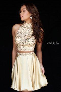 Rochie Sherri Hill 51540 Gold