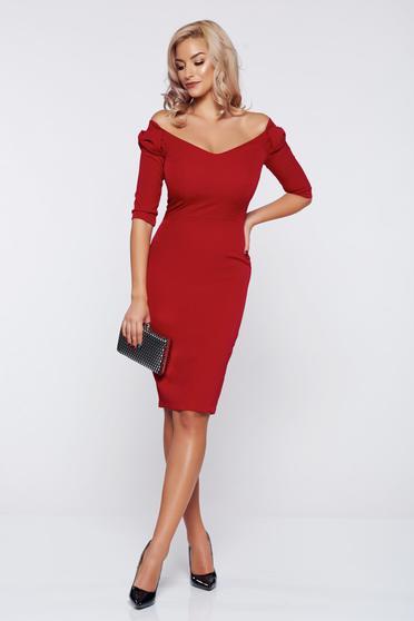 Rochie StarShinerS FALL in love rosie eleganta cu accesoriu in forma de fundita