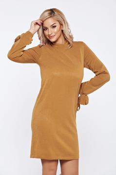 Rochie StarShinerS FALL in love galbena tricotata cu croi larg