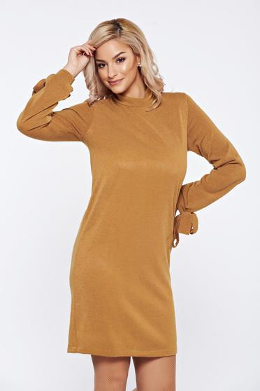 Rochie StarShinerS Fall in Love mustarie tricotata cu croi larg