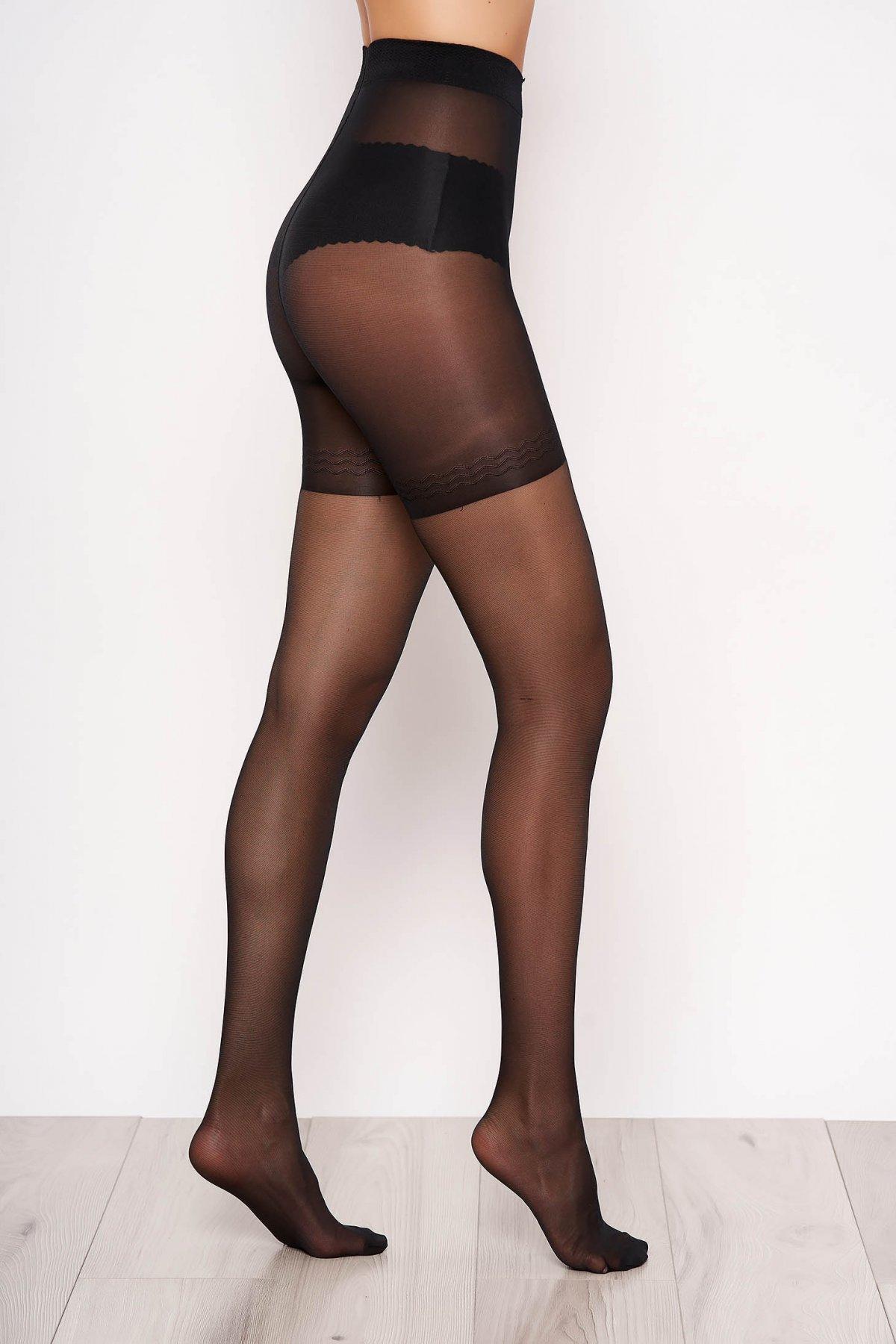 Dres dama modelator negru 20 den banda elastica care nu aluneca