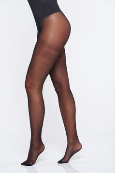 Dres dama negru 20 den material lucios banda elastica