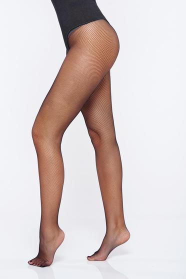 Dres dama negru tip plasa din material elastic