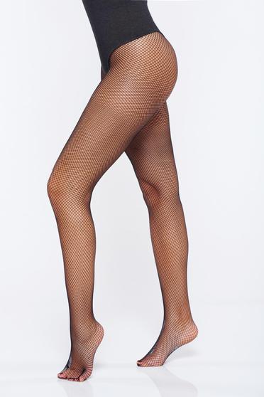 Dres dama negru tip plasa calcai curbat