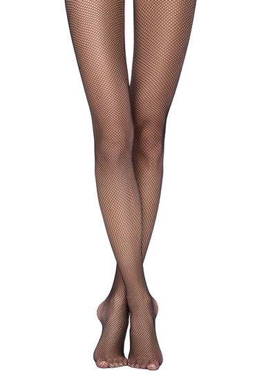 Dres dama negru tip plasa cu varf neintarit si calcai curbat