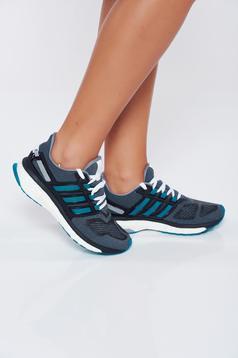 Pantofi sport Adidas verzi casual cu talpa usoara cu siret