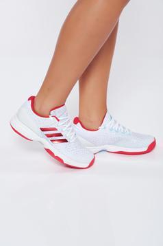 Pantofi sport Adidas albi casual cu talpa joasa din piele ecologica