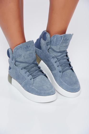 Pantofi sport Adidas Originals Tubular gri casual cu siret