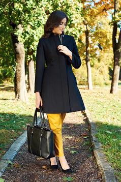 Palton LaDonna negru casual captusit pe interior cu buzunare
