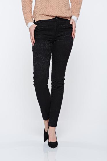 Pantaloni negri Top Secret eleganti conici cu talie medie