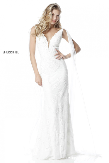Rochie Sherri Hill 51599 White