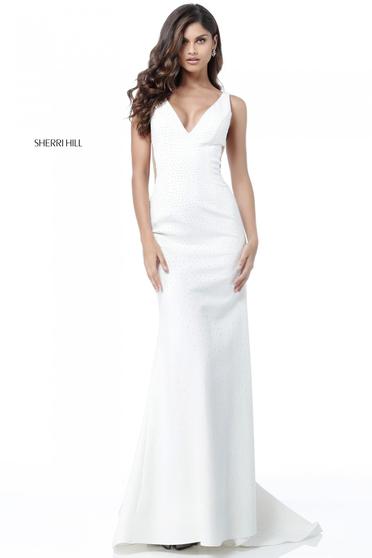Rochie Sherri Hill 51635 White