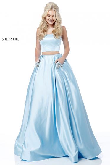 Rochie Sherri Hill 51649 LightBlue