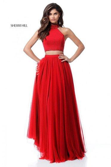 Rochie Sherri Hill 51721 Red