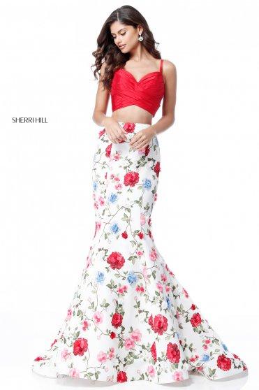 Rochie Sherri Hill 51710 White