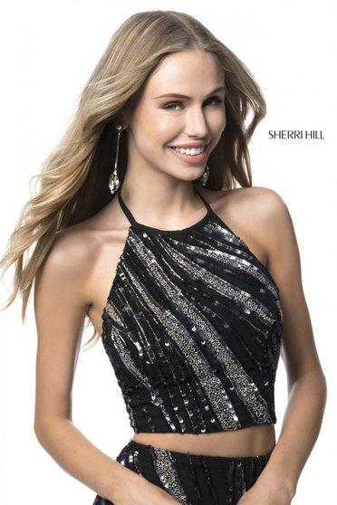 Rochie Sherri Hill 51737 Black