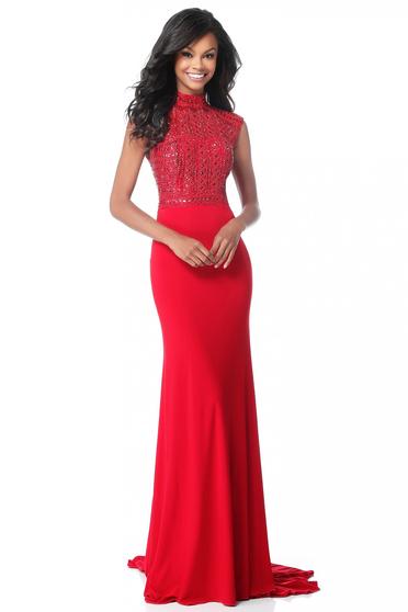 Rochie Sherri Hill 51876 red