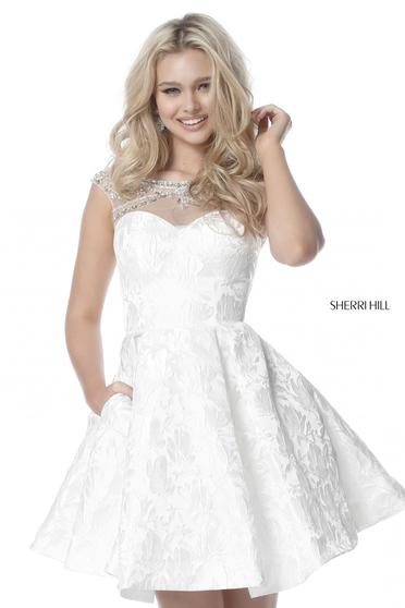 Rochie Sherri Hill 51878 White
