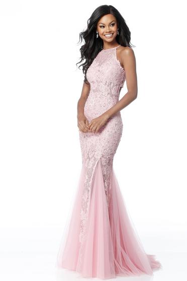 Rochie Sherri Hill 51913 pink/gold