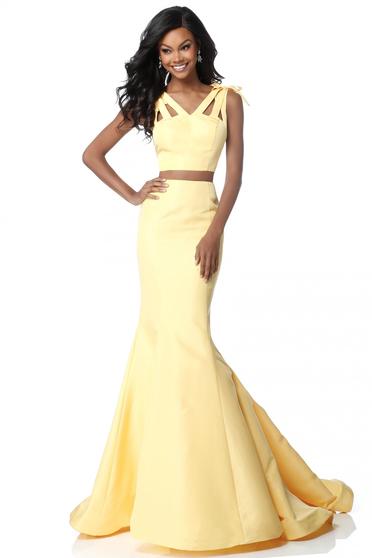 Rochie Sherri Hill 51918 yellow