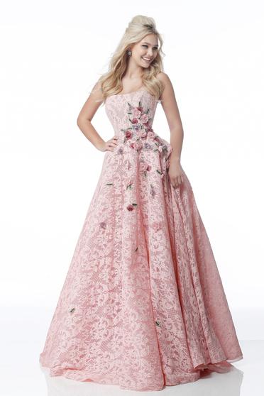 Rochie Sherri Hill 51929 blush