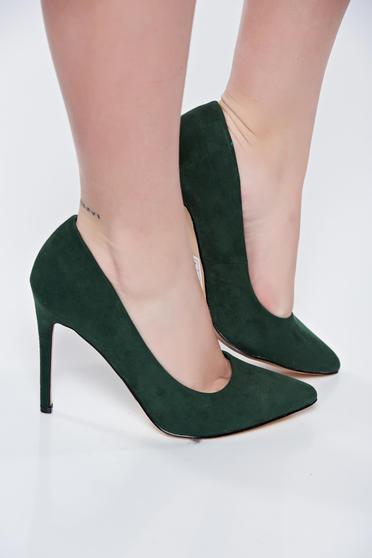 Pantofi Top Secret khaki cu toc inalt cu varful usor ascutit