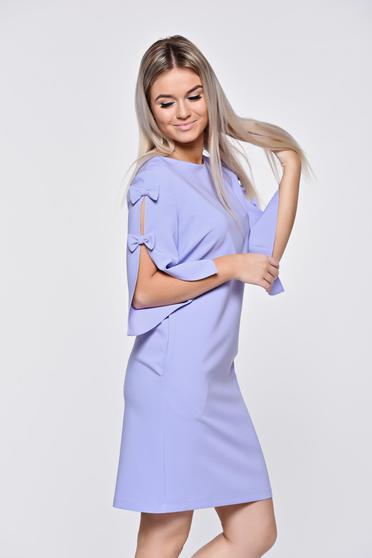 Rochie LaDonna lila eleganta din stofa usor elastica cu croi larg