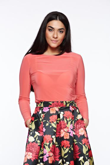 Bluza dama LaDonna corai basic cu un croi mulat din material usor elastic