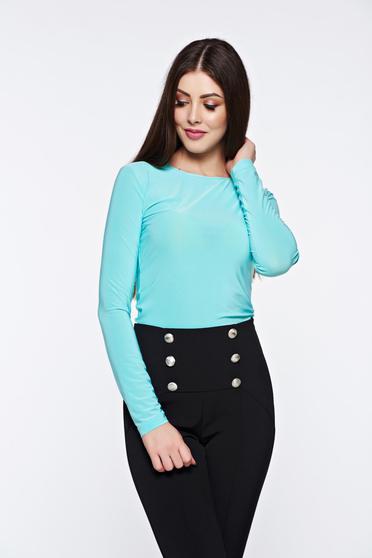 poze cu Bluza dama LaDonna mint basic cu un croi mulat din material usor elastic