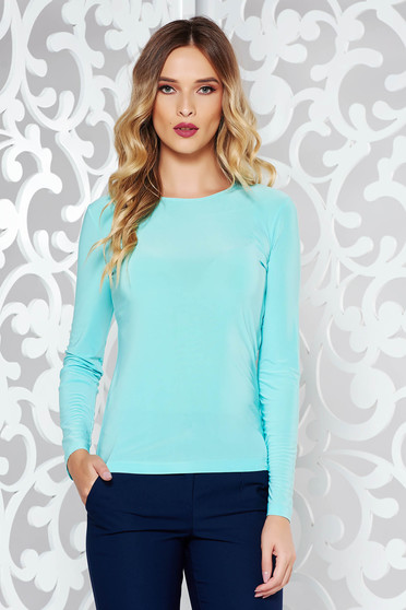 Bluza dama LaDonna mint basic cu un croi mulat din material usor elastic