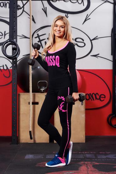 Set MissQ roz sport cu un croi mulat din material elastic