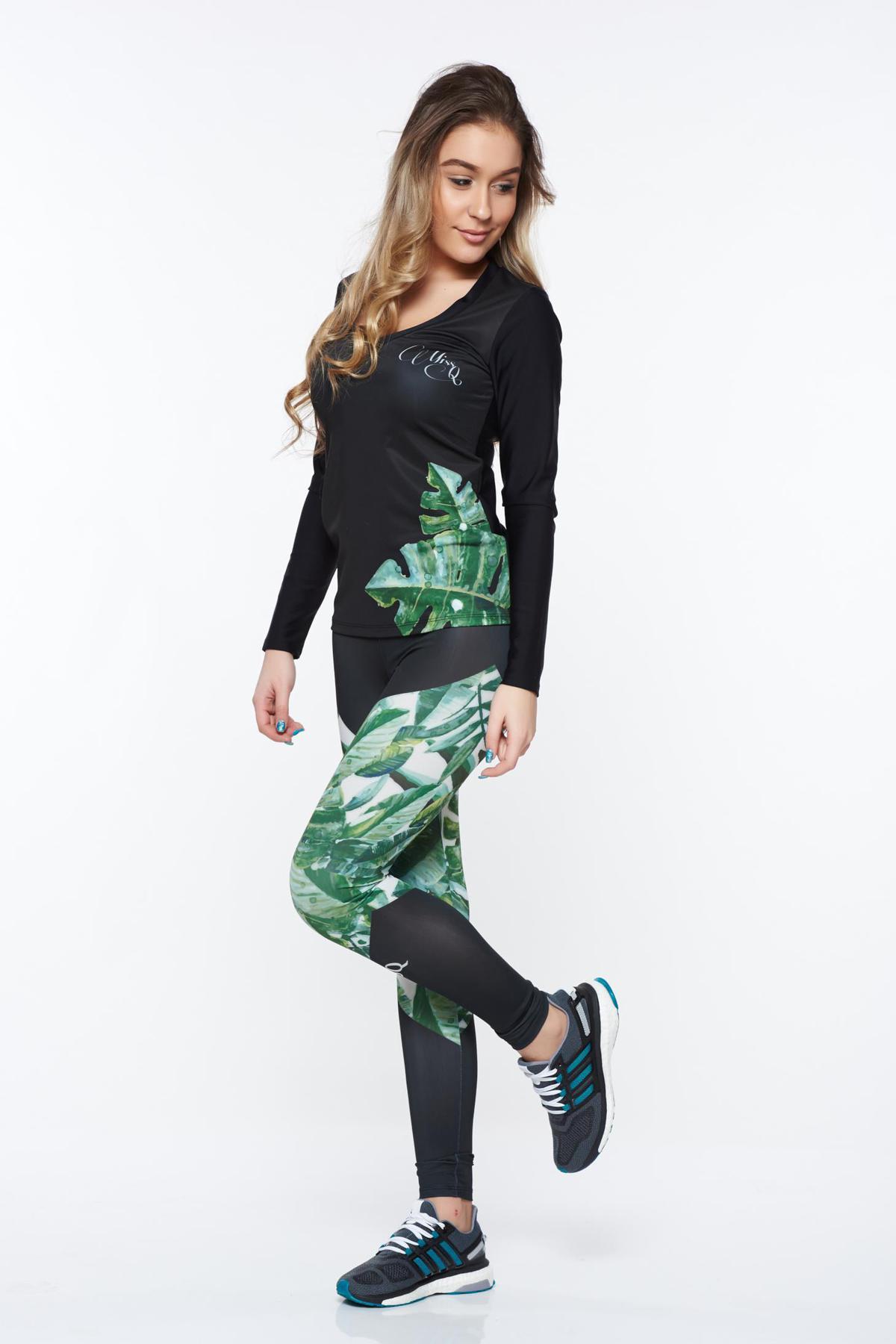 Set MissQ verde sport cu un croi mulat din material elastic