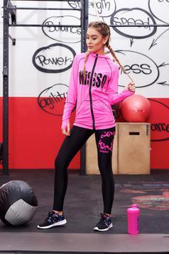 Set MissQ roz sport din material elastic cu buzunare