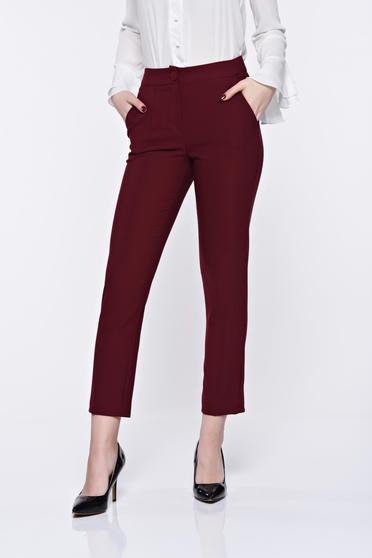 Pantaloni Artista visinii office conici cu talie medie cu buzunare
