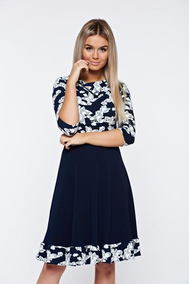poze cu Rochie StarShinerS albastra office in clos din material elastic