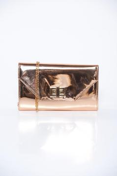 Geanta dama roz deschis plic eleganta din material lucios