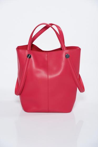 Geanta dama Top Secret rosie casual din piele ecologica