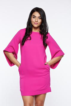 Rochie LaDonna roz eleganta cu croi larg captusita pe interior cu buzunare