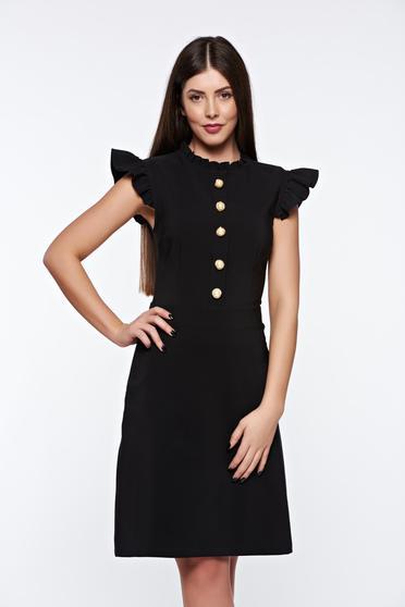 Rochie LaDonna neagra eleganta din material elastic si fin captusita pe interior