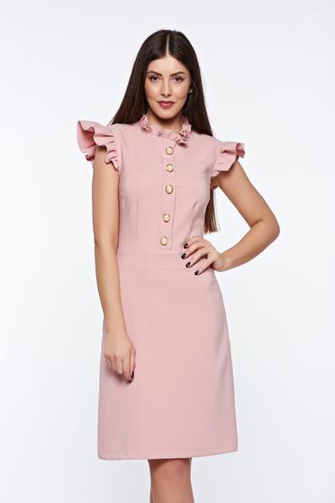 Rochie LaDonna rosa eleganta din material elastic si fin captusita pe interior