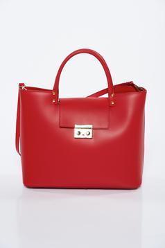 Geanta dama rosie office din piele naturala cu accesoriu metalic