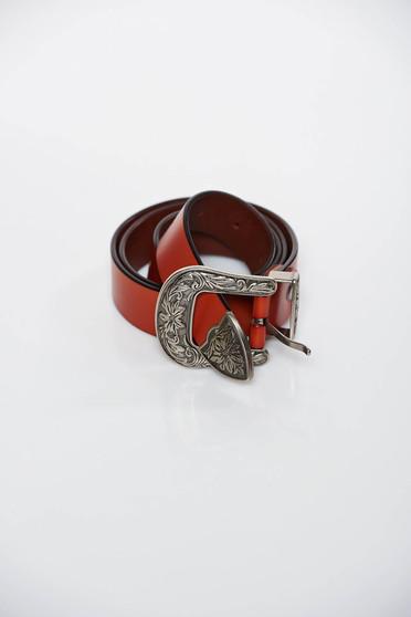 Curea SunShine maro casual pin piele naturala cu catarama din metal